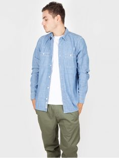 Carhartt - Clink Shirt Blue Stone Washed - Antic Boutik