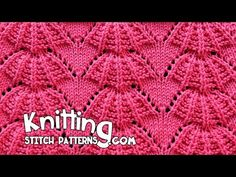 Parasol stitch | Lace Knitting #15 - YouTube