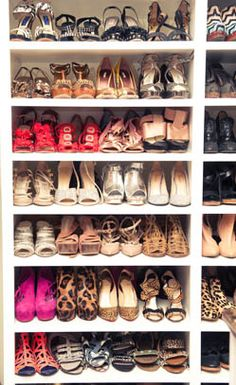whitney port's shoe closet