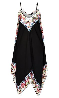 City Chic - FESTIVAL BOARDER DRESS - Women's Plus Size Fashion
