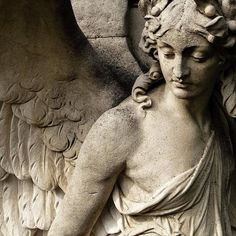☫ Angelic ☫ winged cemetery angels and zen statuary - Cemetery Angels, Cemetery Statues, Cemetery Art, Angels Among Us, Angels And Demons, Angeles, Statue Ange, Old Cemeteries, Graveyards