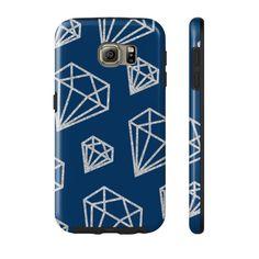 Silver Glitter Diamonds Phone Case