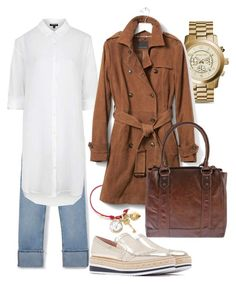 """""""Rainy day w/ suede trench"""" by mars1128 on Polyvore featuring Topshop, Michael Kors, Dolce&Gabbana, Banana Republic, Frye, men's fashion and menswear"""