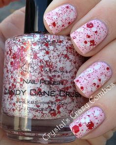 Candy Cane Crush... Maybe I'm just morbid, but it looks more like blood splatter to me.