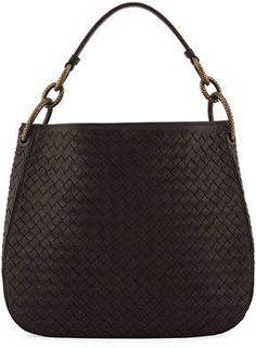 6b16bb81fc38e1 Bottega Veneta Small Loop Intrecciato Woven Hobo Bag