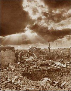 Dawn over Passchendaele. Frank Hurley