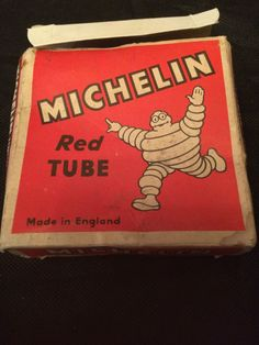 VINTAGE MICHELIN RED BIKE / BICYCLE TUBE in BOX COLLECTABLE UNUSED