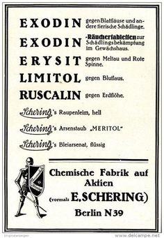 Original-Werbung/ Anzeige 1928 - EXODIN / ERYSIT / LIMITOL / RUSCALIN - SCHERING BERLIN  - ca. 100 x 150 mm
