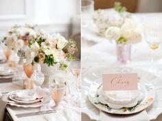 Centro de mesa românticos.
