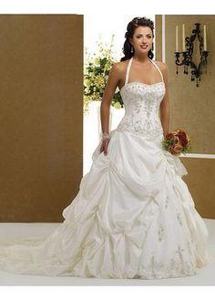 Plus size wedding dresses halter top