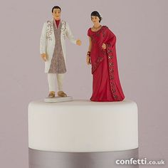 Traditional Indian Bride and Groom Cake Topper Figurine Cake Toppers