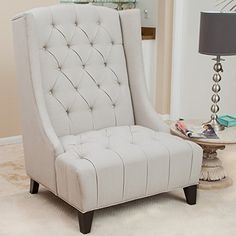 Winger Tall Wingback Accent Chair w/ Buttons Tufted Backr... https://www.amazon.com/dp/B00CS8FRCI/ref=cm_sw_r_pi_dp_x_VlYkyb4X86VGJ