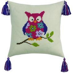 Kits for kids Counted Cross Stitch Kits, Cross Stitch Embroidery, Hand Embroidery, Cross Stitch Patterns, Owl Crochet Patterns, Owl Patterns, Cross Stitch Cushion, Butterfly Cross Stitch, Crocodile Stitch