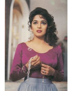 """""""[madhuri dixit] invented purple and world peace"""" Bollywood Dress, Indian Bollywood, Bollywood Fashion, Beautiful Bollywood Actress, Most Beautiful Indian Actress, Beautiful Actresses, Indian Celebrities, Bollywood Celebrities, Bollywood Actors"""