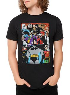 DC Comics Batman: The Animated Series Characters T-Shirt,