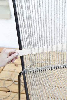 How to Restring a Chair, KnitWit-style