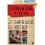 "11/22/63 by Stephen King.  The Kennedy Assassination with a King spin.  One of those ""I have to finish it"" books"