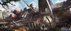 Boneyard, Min Nguen on ArtStation at https://www.artstation.com/artwork/boneyard-3d751b91-a8ec-4db3-9377-36f09b457e2d