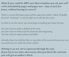 Help with writer's block!?