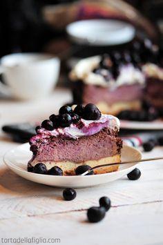 Torta Della Figlia | Blueberry Cheesecake #cheesecake #recipe #dessert #cake #fruit #blueberry