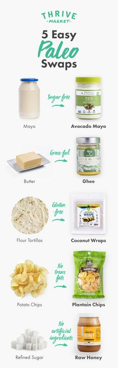 Looking for easy paleo swaps? Thrive Market is on a mission to make paleo living easy and affordable for everyone! We offer over 300 paleo-friendly products up to 50% off every day. Sign up today!