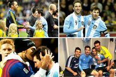 """Grandes momentos de Suécia  e Argentina : Olá amigos,    A Argentina venceu a Suécia por 3 x 2 num amistoso repleto de emoções. Os gols da Argentina foram marcados por Aguero e Higuain (2), Messi quase deixou o seu mais o goleiro tirou """"em cima da linha"""", independente de marcar ou não, Leo fez uma grande partida e a Argentina mostrou que está cada vez mais forte. Como pontos altos da partida eu destaco o bom relacionamento entre cul"""