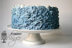 buttercream waves cake - very cool!
