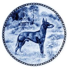 Manchester Terrier - Standard / - Lekven Design Dog Plate 19.5 cm /7.61 inches Made in Denmark NEW with certificate of origin PLATE -7345 -- Click image to review more details. (This is an affiliate link and I receive a commission for the sales) #Pets