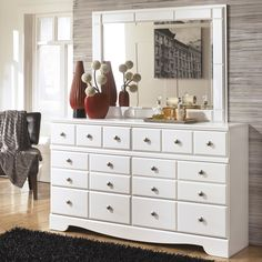 Beachcrest Home™ Carrabassett 6 Drawer Dresser with Mirror