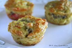 Sausage and cream cheese muffins. LCHF, Keto, 24/7 Low Carb Diner #7-Keto