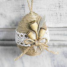 Dekorácie - Veľkonočné vajíčko s makovičkami - 7936362_
