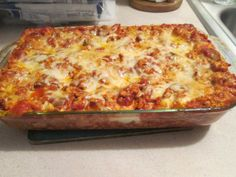 Healthy Harvest Turkey Lasagna - I used the recipe that was on back of the Ronzoni Healthy Harvest Lasagna Box, Healthy Harvest Easy Lasagna. I used the following; 1lb Jennie – O Extra Lean Ground Turkey Breast