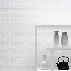 Graham & Brown Screen Panel Paintable White Wallpaper - 02-058