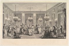 Le Bal Paré, 1774 engraving by Antoine Jean Duclos (1742-1795) after Saint-Aubin
