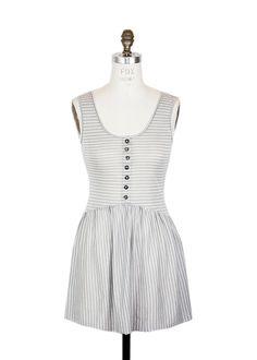Capri Harbor Striped Dress Grey, $40