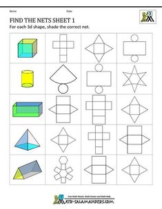 3 Worksheets Recognizing 3 D Shapes Part 3 Geometry Nets Information Page √ Worksheets Recognizing 3 D Shapes Part 3 . 3 Worksheets Recognizing 3 D Shapes Part 3 . Roll and Color Shapes in 3d Shapes Worksheets, Shapes Worksheet Kindergarten, Geometry Worksheets, Kindergarten Math Worksheets, Alphabet Worksheets, Printable Worksheets, Free Printable, Coloring Worksheets, Music Worksheets
