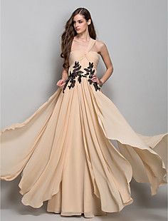 A-line One Shoulder Floor-length Chiffon Evening Dress (7599... – AUD $ 216.49