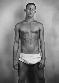 young Channing Tatum--from his Abercrombie & Fitch days. Reminds me of a male stripper I used to know (yes, I used to know male strippers. And dated one in the last century....it wasn't all that much fun.)