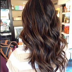 subtle balayage highlights dark hair - Google Search