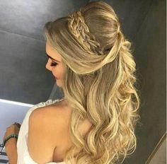 Penteado de noiva com trança
