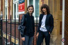 LONDON_LFW_STREETSTYLE_THEOUTSIDERBLOG_DIEGOZUKOLN, Vittoria Ceretti, street syle, baseball / varsity jacket,fall winter, street style