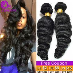 7A Peruvian Virgin Hair Loose Wave 3Bundles Annabelle Hair Loose Curly Virgin Hair Cheap Human Hair Bundles Peruvian Loose Wave