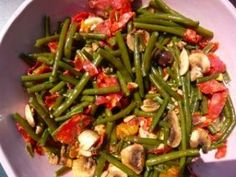 salad of green beans rich