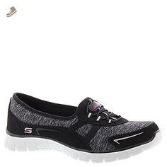 d4aee45de7f0 SKECHERS Women s EZ Flex 3.0 - Feelin  Good Black Grey Sneaker 9.5 B (