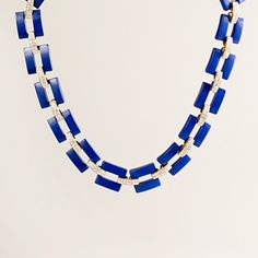 Resin & rhinestone link necklace (JCrew)