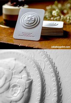 Multi-Level Embossed Letterpress Business Card