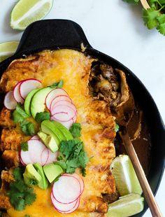 Short Rib Enchiladas Roja Best Enchiladas, Cuban Cuisine, Mexican Food Recipes, Ethnic Recipes, Chipotle Pepper, Monterey Jack Cheese, Beef Short Ribs, Enchilada Sauce, Beef Dishes