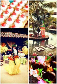 Bridal Shower Luau Party SO MANY IDEAS via KarasPartyIdeas.com #BridalShower #Hawaii #Luau #PartyIdea #PartyDecorations Honeymoon Bridal Showers, Luau Bridal Shower, Bridal Shower Cakes, Aloha Party, Tiki Party, Luau Party, Hawaiian Theme, Hawaiian Luau, Lilo Stitch