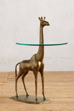 Slide View: 1: Giraffe Side Table