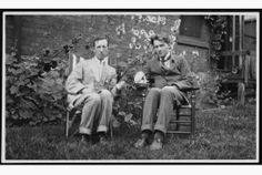 Duncan Campbell Scott at 50 in his Ottawa garden in with the touring war poet Rupert Brooke, Brooke would be dead two years later.